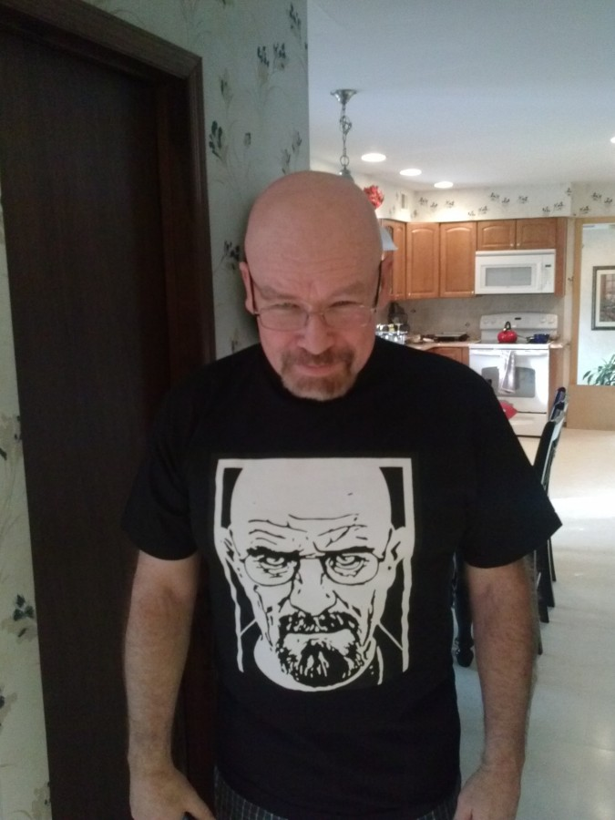 My Dad gets told he looks like Walter White from Breaking Bad all the time. My sister and I got him this for Christmas.