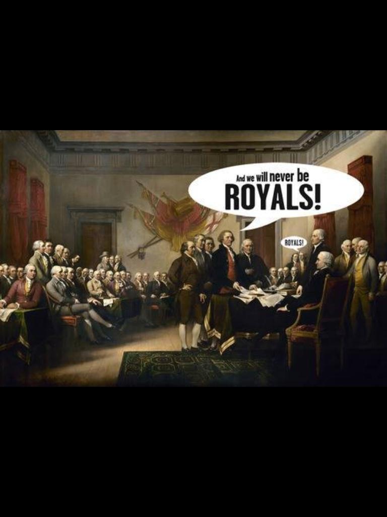 We'll never be royals…