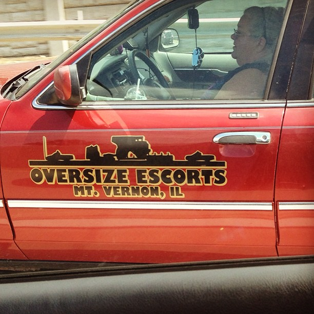 I just saw your mom driving to work.