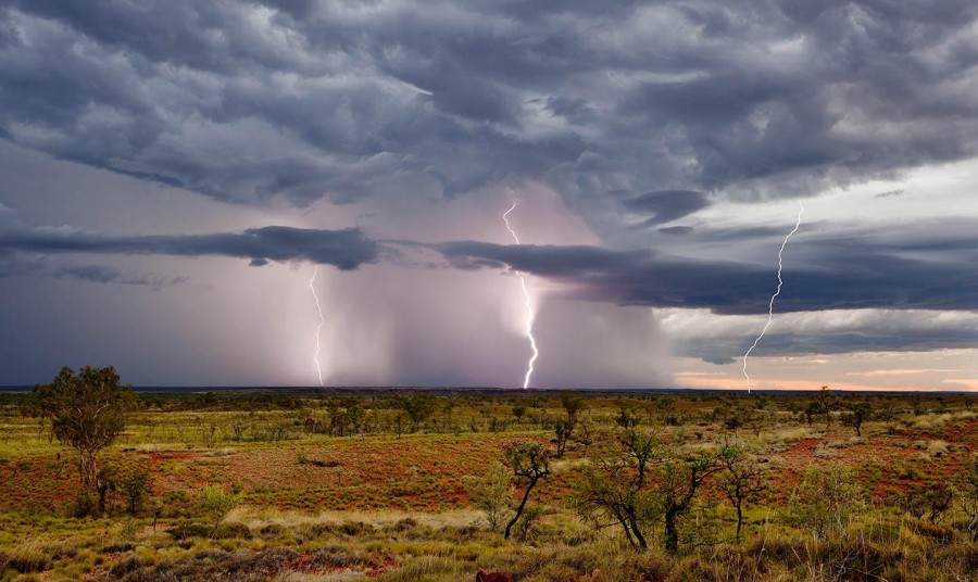 Lightning Storm At Sunset In The West Australian Outback [1440×859]