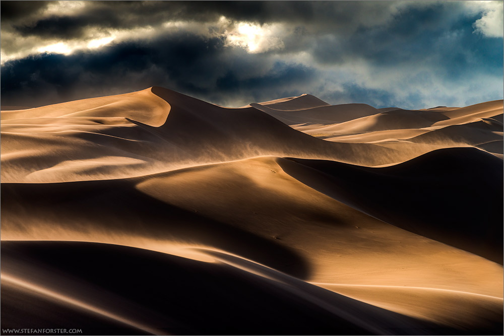 """Storm in the Dunes"" – Great Sand Dunes National Park, Colorado [1000×667][OS] photo by Stefan Forster"