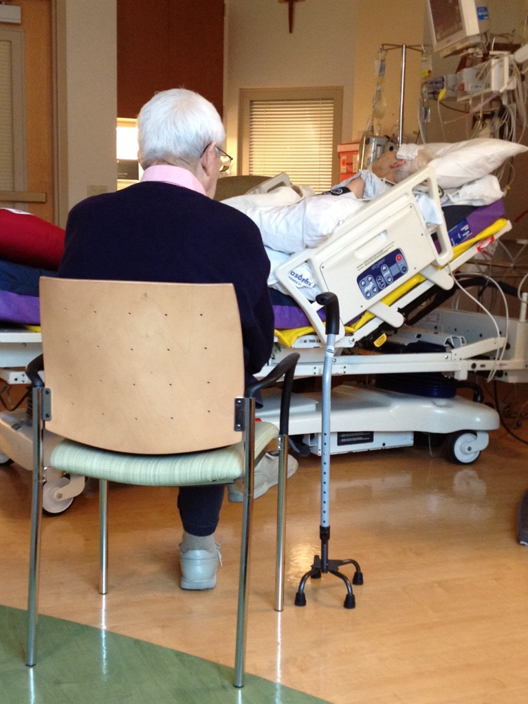 Love is awesome. My 90 year old grandpa didnt move from this spot for 4 days after grandmas open heart surgery.