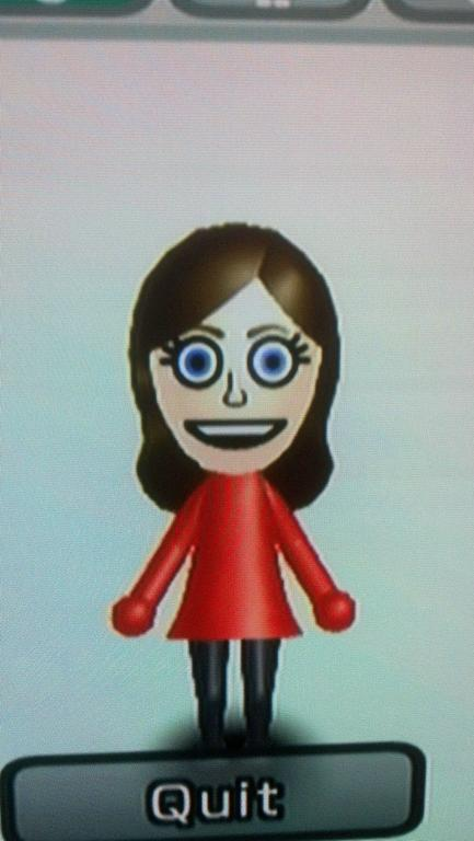 My Friend's GF became upset with the number of random female Mii characters He and I had jokingly created (for our friends), so she deleted All of them except her own…I responded by changing her Mii to THIS. [OC]