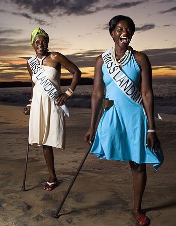 Miss Landmine contestants, Angola, 2008