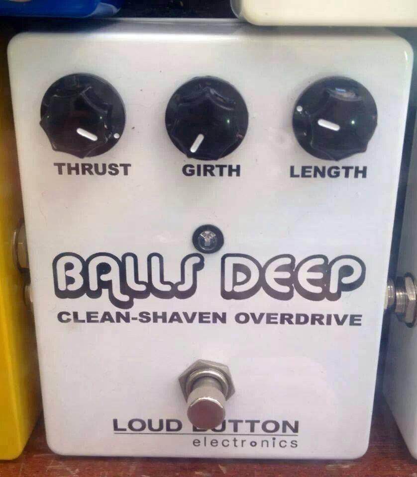 By far the rudest guitar pedal I've ever seen.