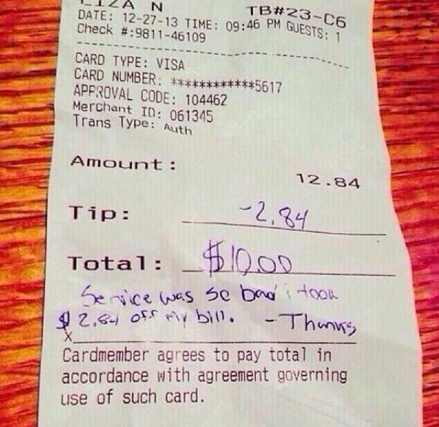 Tip: -$2.84