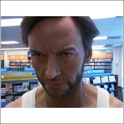 I used to work at the flagship Blockbuster in Dallas. One day to promote some X-Men film, they brought in a life-size wax replica of Wolverine. It still freaks me out.