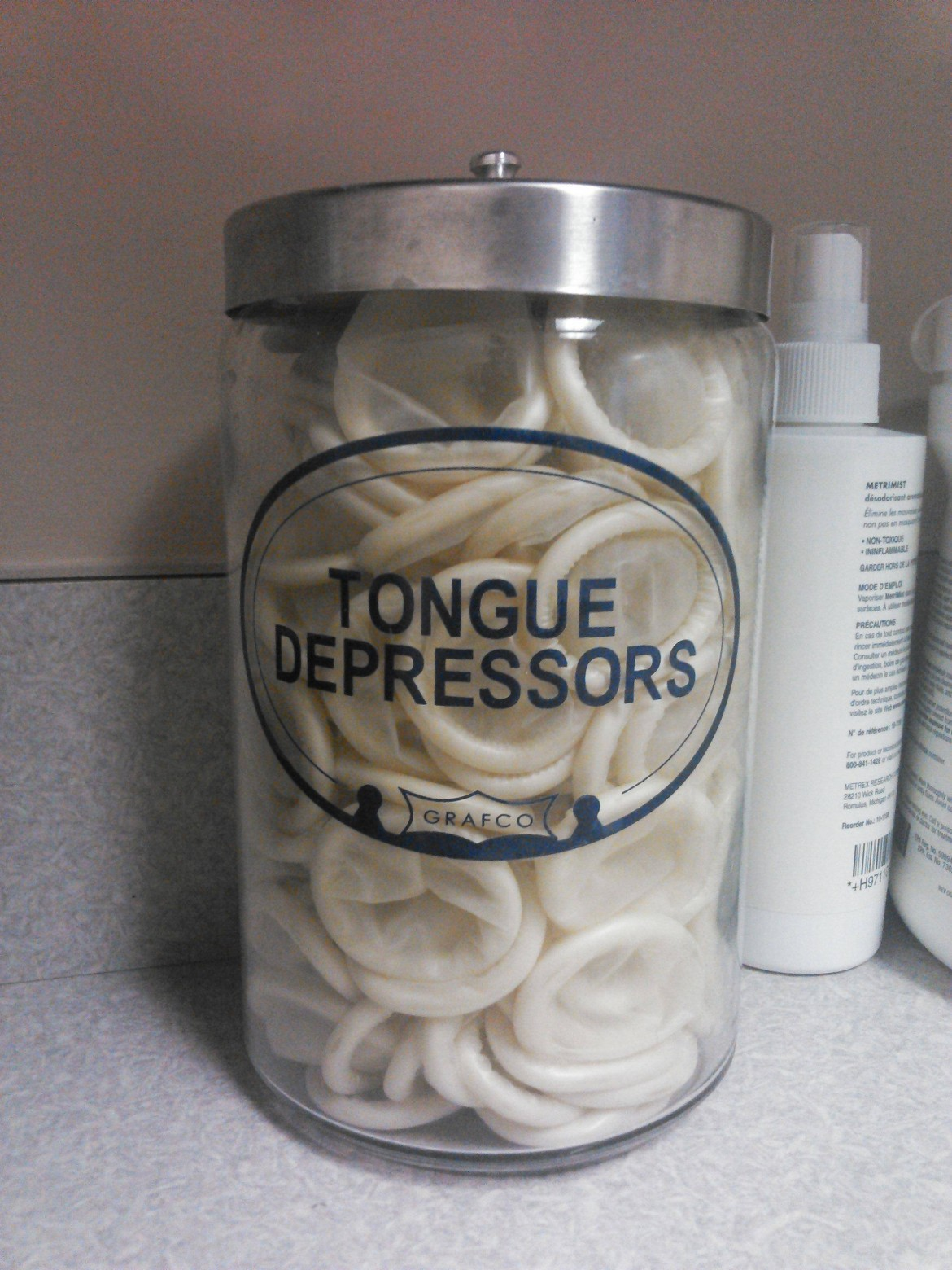 On the desk of my wife's OBGYN…I told her it's time to get a new doctor.