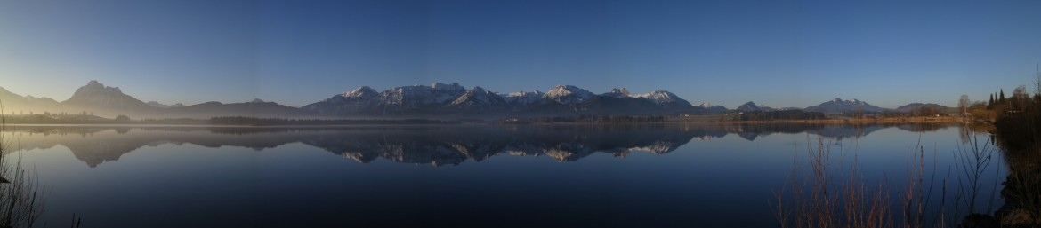 Lake in Bavaria – Panorama [5126×1128]