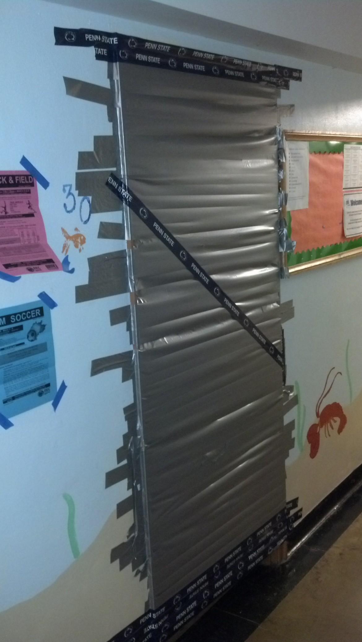 Somebody duct taped my RAs door shut last night.