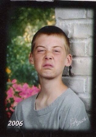 My 8th grade picture. I was having a bad day.