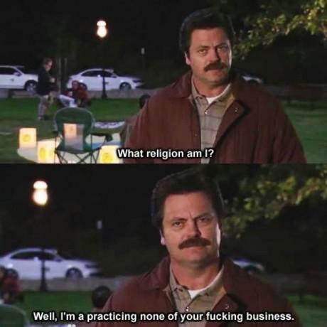My religion?