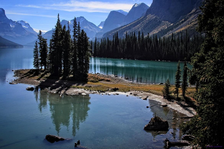 Spirit Island. Maligne Lake, Jasper National Park, Alberta, Canada [2048×1365]